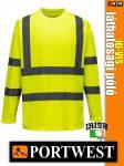 Portwest HI-VIS jól láthatósági hosszúujjú póló - munkaruha