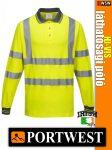 Portwest HI-VIS jól láthatósági lélegző galléros hosszúujjú póló - munkaruha