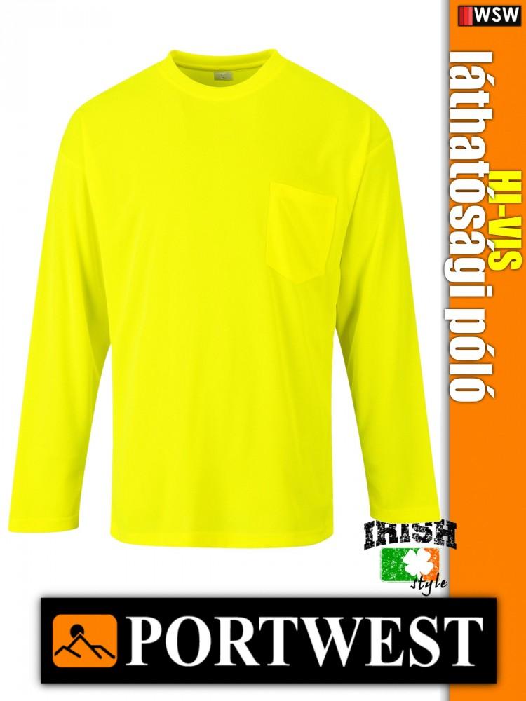 d9b082792a Portwest HI-VIS jól láthatósági hosszúujjú póló - munkaruha ...
